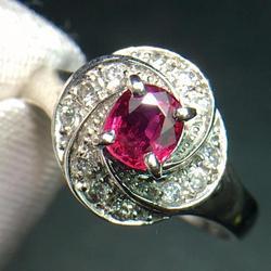 Кольцо с рубином, чистое ювелирное изделие Pt900, настоящие натуральные ювелирные изделия с красным Рубином 0,44 карата, женские кольца на годов...