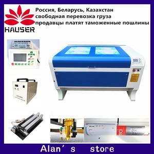 Image 1 - 무료 배송 DPS 1060 CO2 레이저 조각기 USB 자동 초점 레이저 커터 기계 DSP 시스템 레이저 마킹 기계 쿨러
