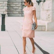 Blush Pink Full Lace Mother Of The Bride Dresses