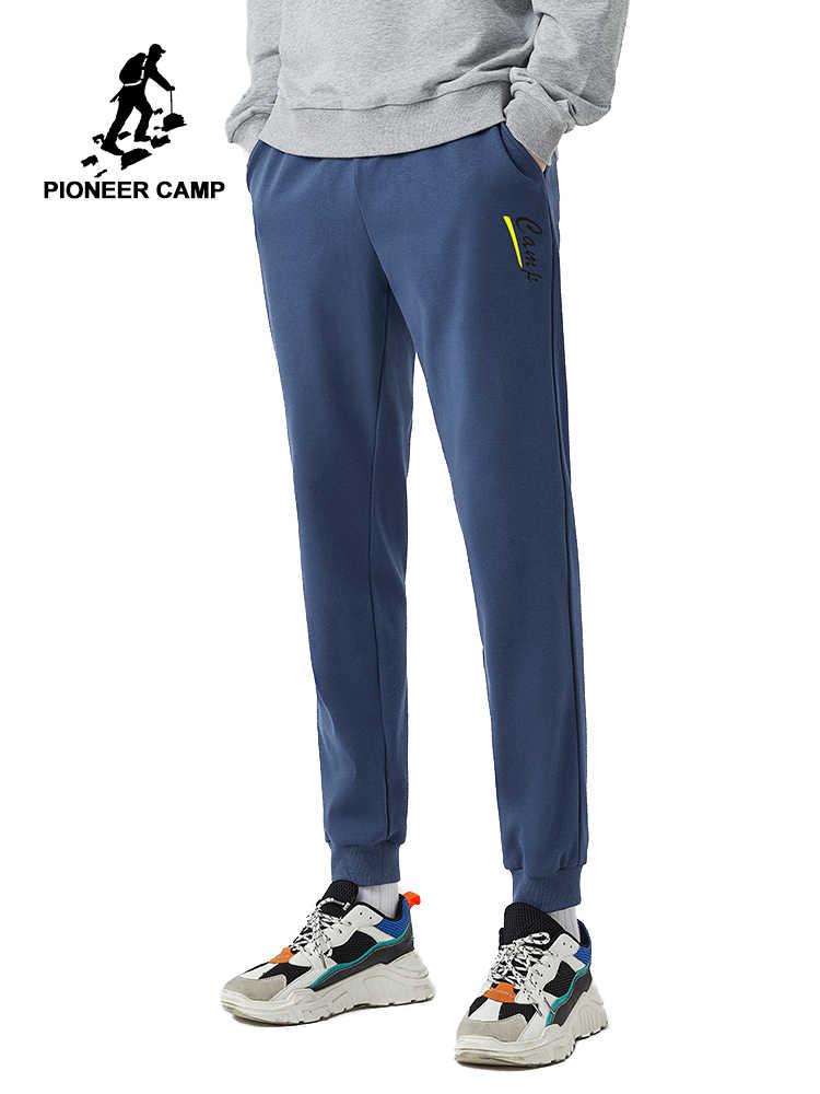Pantalones Pioneer Camp 2020 de primavera para hombre, pantalones 100% de algodón, pantalones de chándal azules y negros para hombre, pantalones de chándal AZZ0105023H
