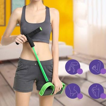 Multifunction Fitness Pedal Exerciser Sit-up Exercise Band Elastic Pull Rope Equipment Tummy Bodybuilding Tension