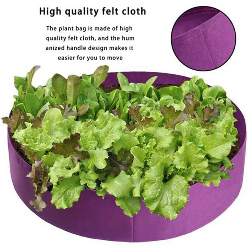 2Pcs / Garden Large Capacity Planting Bag Planting Bed Farm Cultivation Breathable Nursery Root Container Purple (Purple)