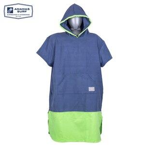 Image 4 - Ananas Surf Style Poncho plażowe szybko suszone Unisex mężczyźni kobiety zmień kombinezon szlafrok ręcznik z mikrofibry