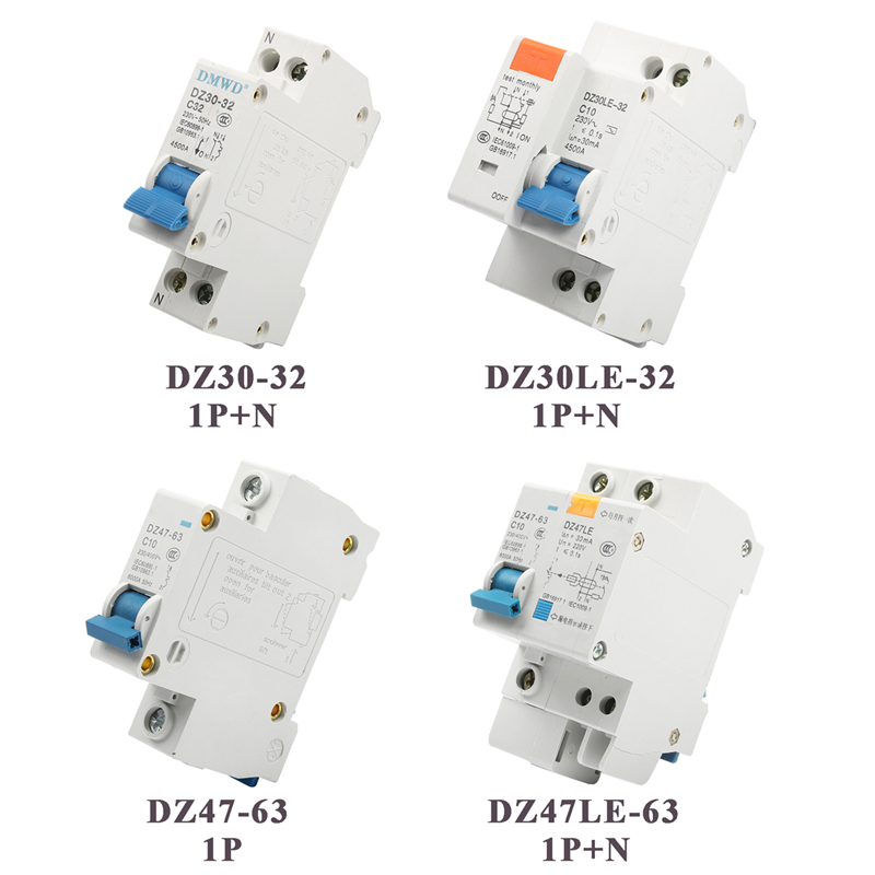 DZ47-63 4P 32A 400V Miniature RCCB Residual Current Circuit Breaker 50Hz