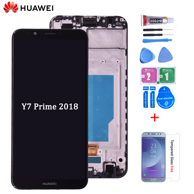 Full LCD DIsplay + Touch Screen Digitizer Glass Assembly + Frame Cover For Huawei Y7 Prime 2018 LDN-LX1 LDN-LX2/ LDN-L21 LDN-L22