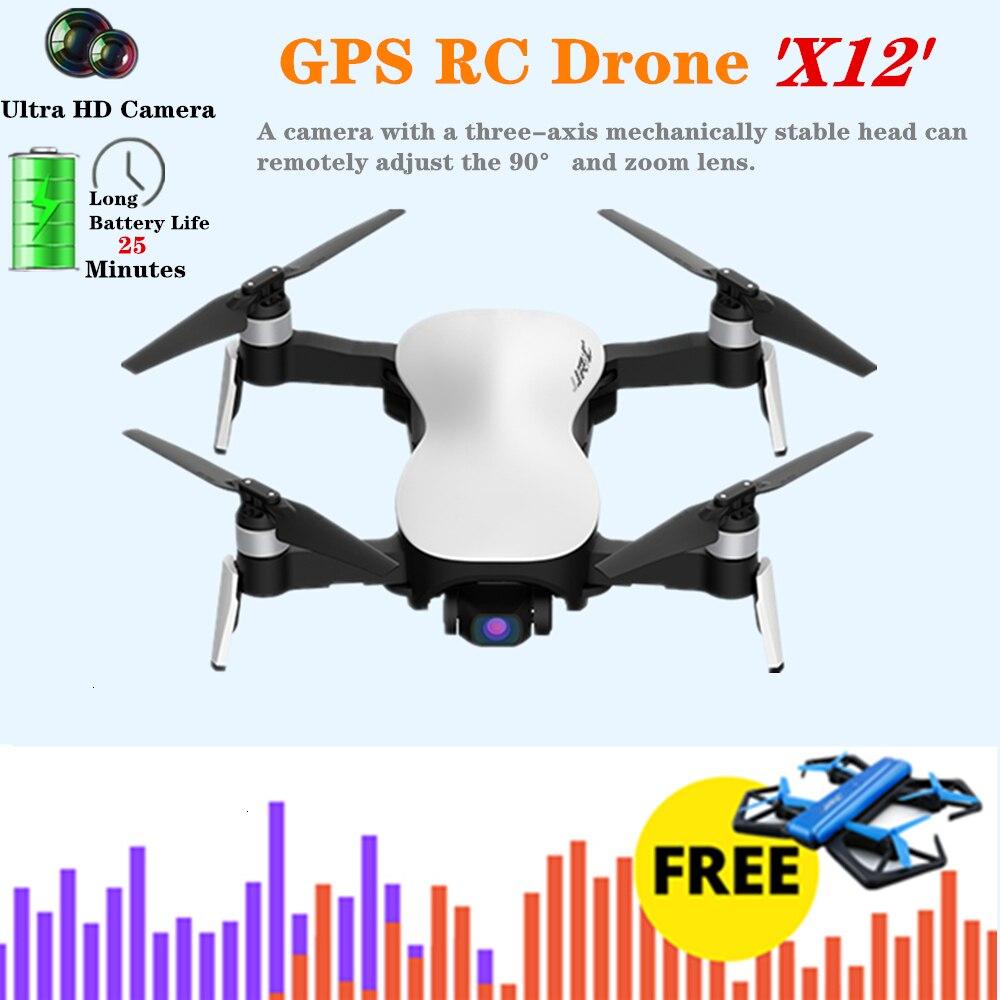 zangao 4 k jjrc x12 quadcopter zangao de gps rc com 5g wifi 4 k hd