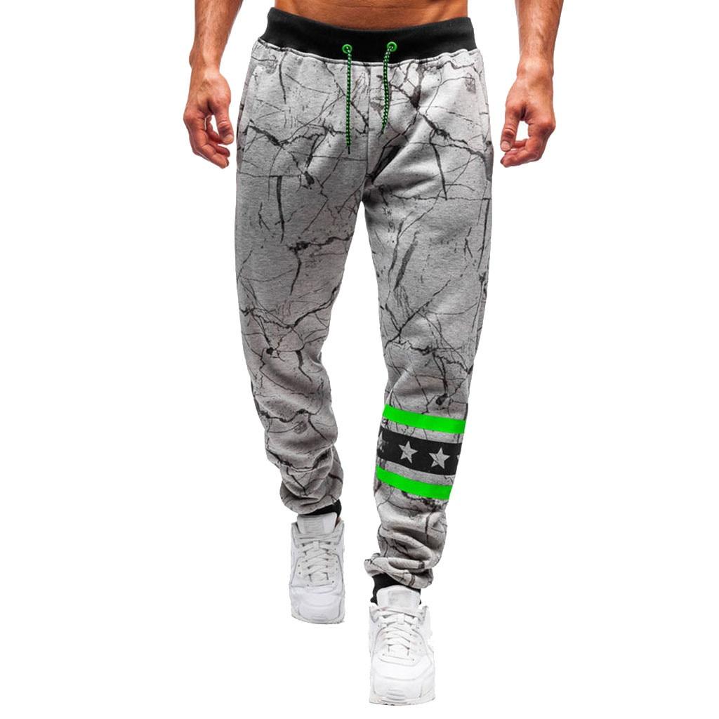 Men Outdoors Print Multi-pocket Work Cargo Long Cargo Pants Sports Trousers Male Streetwear Pantalones Hombre Joggers Plus Size