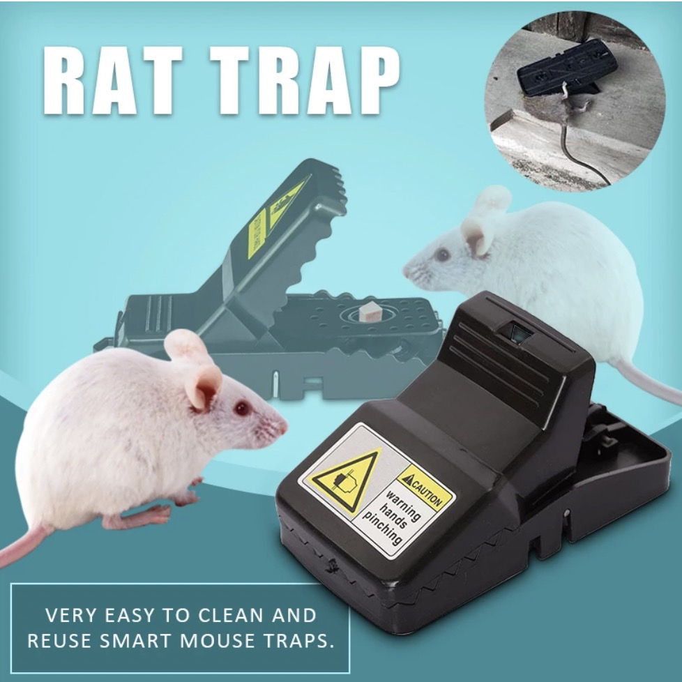 High Qulity Reusable Rat Catching Mice Mouse Traps Mousetrap Bait Snap Spring Rodent Catcher Pest Control image