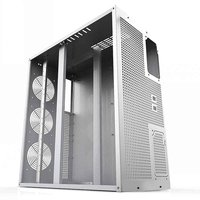 6/8 GPU Vertical Type Graphics Server Chassis MicroATX/ITX/ATX 4U Mining Machine Chassis With Dual Power Supply Design