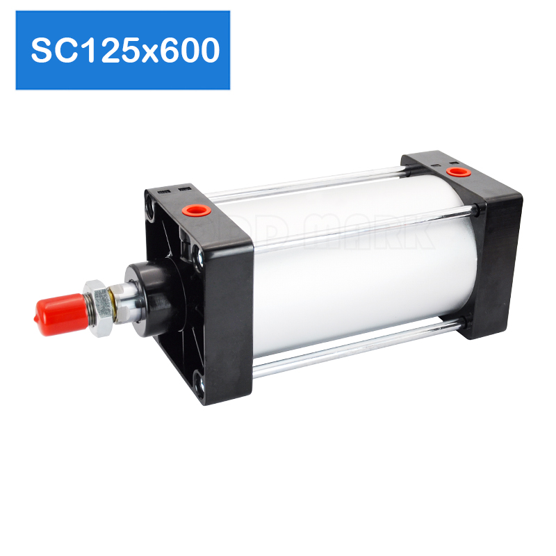 Optional magnet SC125*600 Free shipping Standard air cylinders 125mm bore 600mm stroke single rod double acting pneumatic