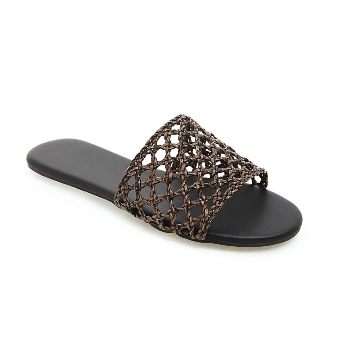 2020 yeni yaz kadın terlik flats plaj terlikleri kapalı ve açık çok amaçlı ayakkabı boyutları 34-43