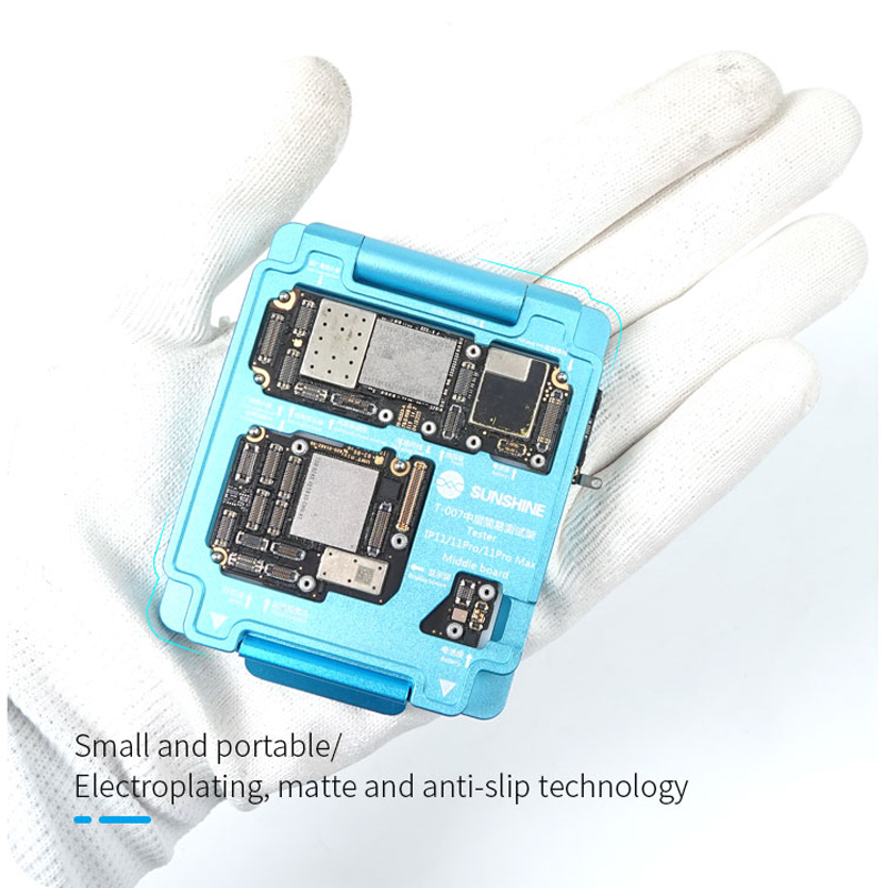 SUNSHINE T-007 3 IN 1 Middle Board Tester For IPhone 11 11 Pro 11Pro MAX Double-Deck Upper And Lower PCB Repair Platform