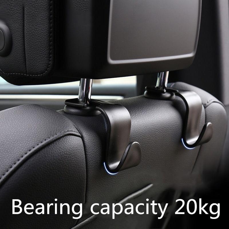 Купить 4x автомобильные крючки спинки сиденья сумка вешалка для bmw
