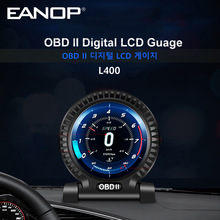 Eanop L400 Hud Obdii Digitale Guage OBD2 Scanner Speedometor Dashboard Klok Met 9 Interfaces Rem Accelorator Test Kmh/Mph