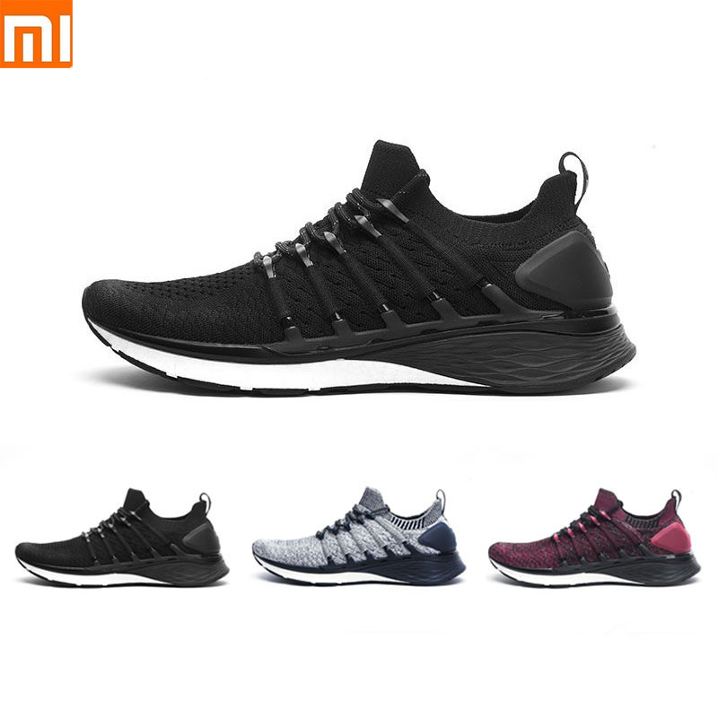 Original Xiaomi Mijia Sneaker Sports Shoes 3 Running Shoes Popcorn Cloud Bomb 6 In 1 Uni Molding With 3D Lock Fishbone System