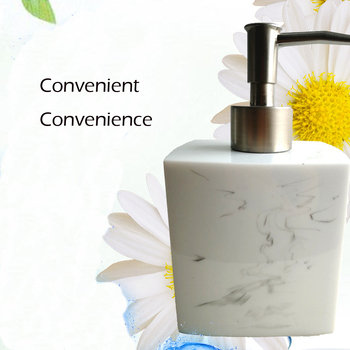 Ze stali nierdzewnej stalowy dozownik do mydła odkażacz do rąk wysokiej jakości w butelka do balsamu wyposażenie łazienki wyposażenie łazienkowe tanie i dobre opinie Polerowane white resin