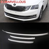 Front Rear Bumper Grille Wing Mirror Automobile Modified Chromium Car Styling Accessories Bright Sequins 18 19 FOR Skoda Octavia