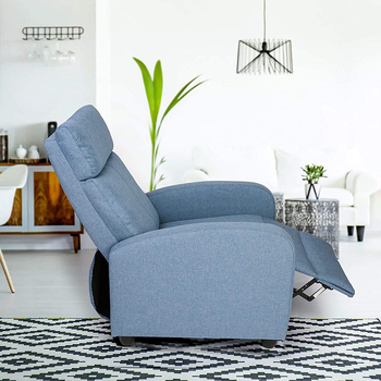 Fabric Recliner Chair Adjustable Single Sofa Home Theater Seating Recliner Reading Sofa for Living Room & Bedroom Red Gray Blue 1