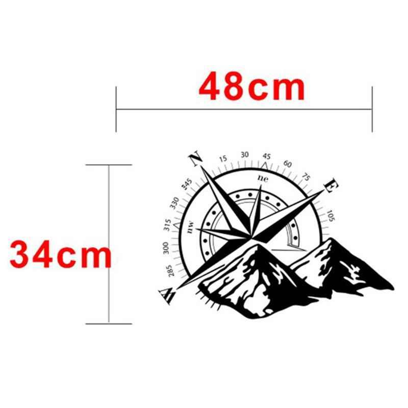 48*34cm Ngoài đường La Bàn Xe Dán Hoa Hồng Di Chuyển Vinyl Dán Decal Xe Tải Xe Tải Tự Động Laptop Xe Ô Tô cửa và Mũ Trùm