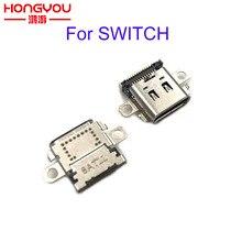 Оригинальный зарядный порт для консоли Nintendo Switch NS, 30 шт., разъем питания для зарядного устройства Type C, разъем для переключателя