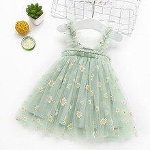 2021 летнее платье для маленьких девочек Vestido/платье для девочек; Платье принцессы для девочек кружевные платья-пачки с фатиновой юбкой для де...