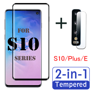 S 10 Plus protective glass for Samsung galaxy s10 s10e s20 ultra screen protector on s10plus s20ultra s 10 20 lens tempered film(China)