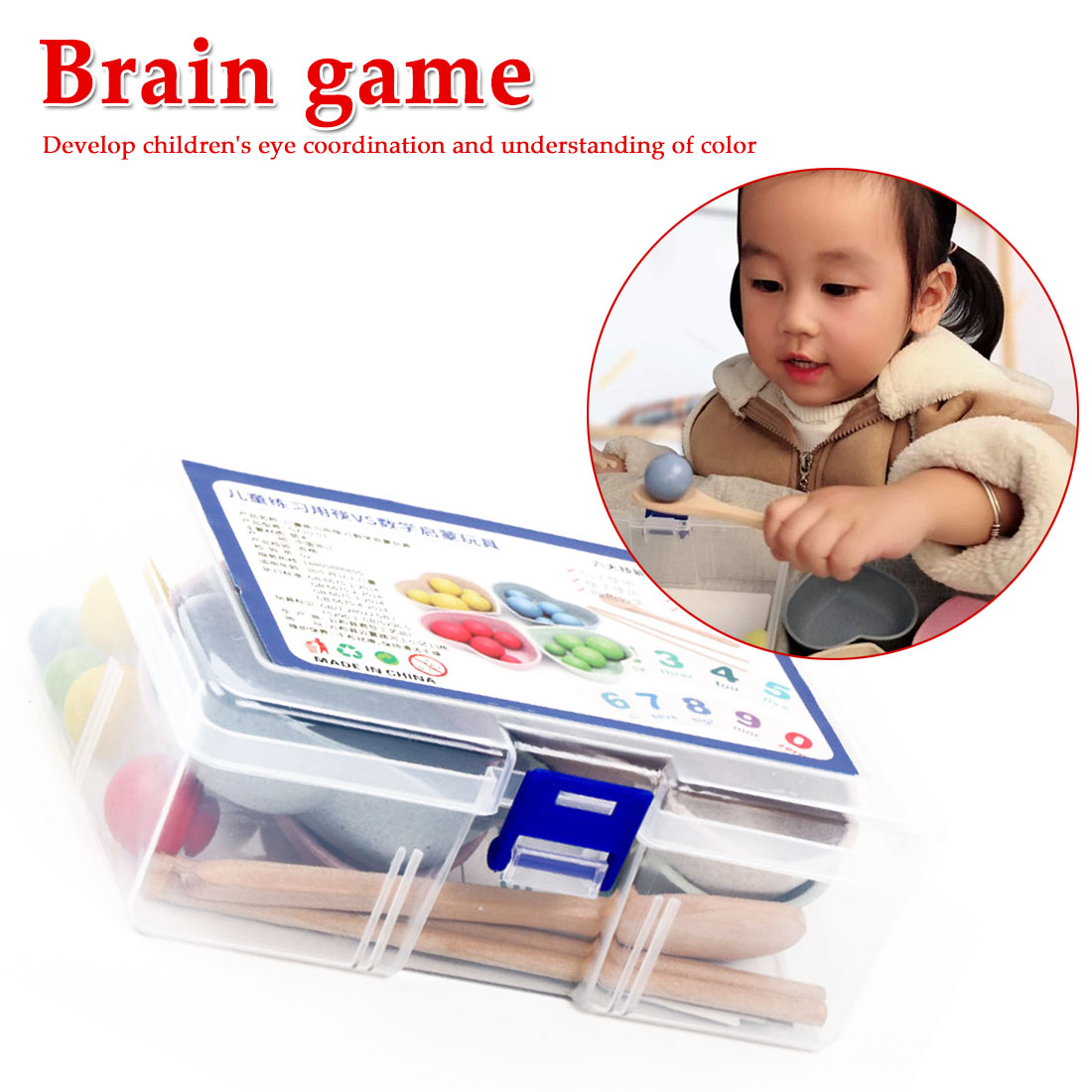 Kids Early DIY Educational Toys Clip Beads Game Learning Toy For Children Montessori Toy For Children
