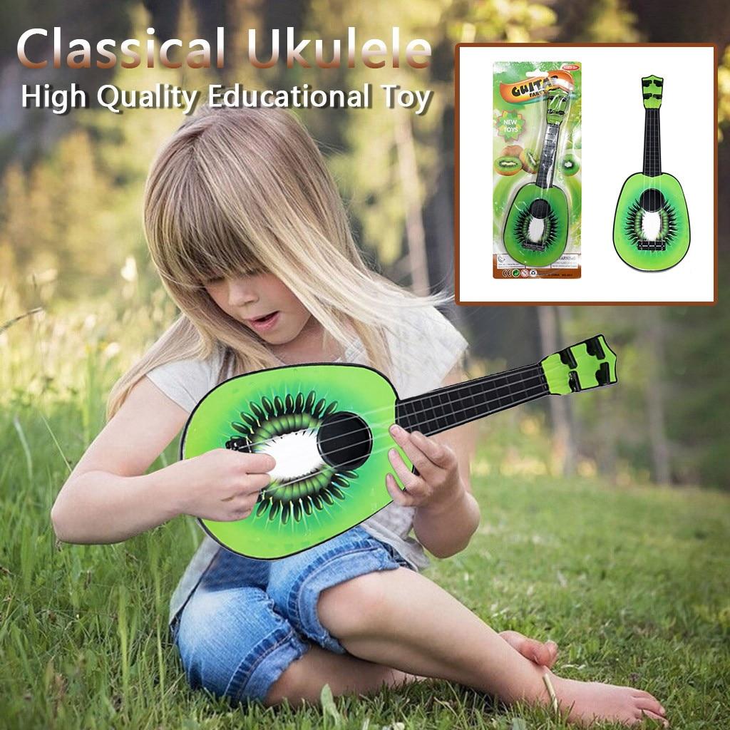Débutant classique ukulélé Fruit guitare éducatif Orange pastèque ananas kiwis Musical Developmente Instrument jouet