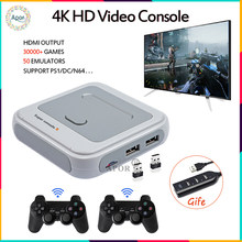 Retro WiFi Super Console X With 33000 Games With 2.4G Wirelless Controllers 4K HD TV Video Game Consoles For PSP/N64/DC/NDS/PS