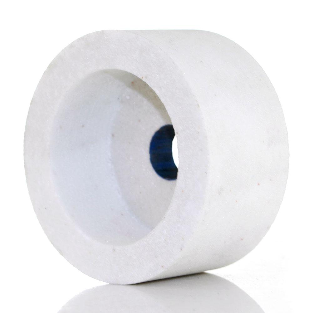 Mola a tazza di ossido di alluminio marrone, bianco e rosa Carburo di - Utensili abrasivi - Fotografia 2