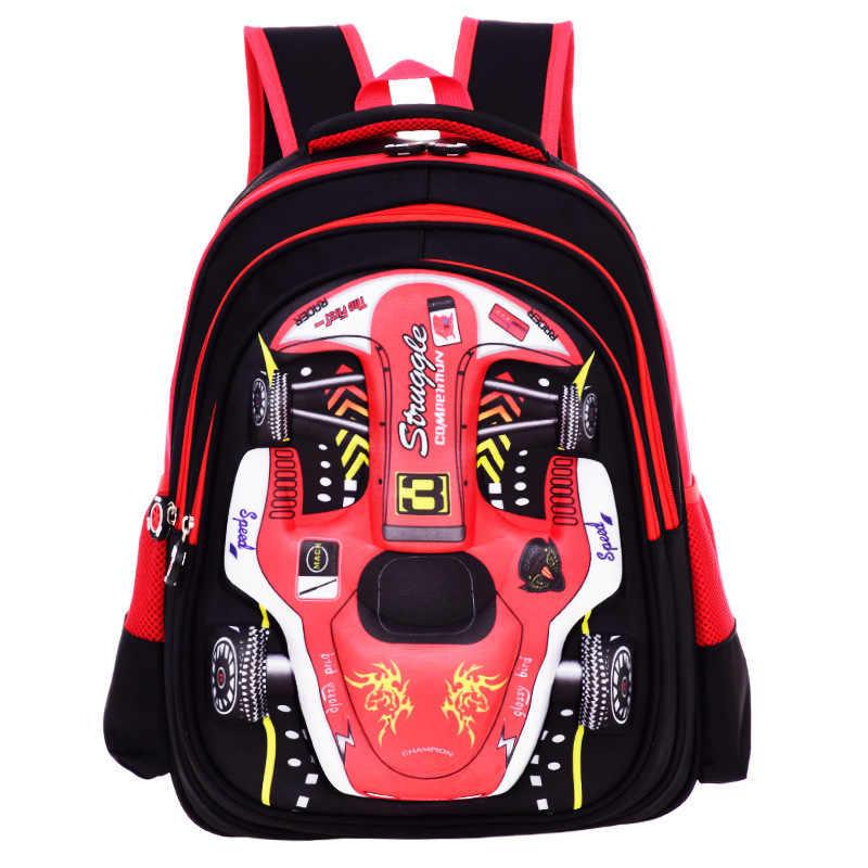 Plecak dla dzieci torby do szkoły podstawowej Cartoon 3D torby szkolne dla chłopców dziewcząt torba dla dzieci plecak tornistry Mochila Infantil