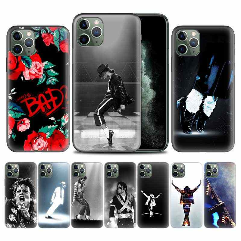 Michael Jackson King POP Case voor Apple iphone 11 Pro XS Max XR X 7 8 6 6S Plus 5 5S SE 5C Soft TPU Phone Cover Coque