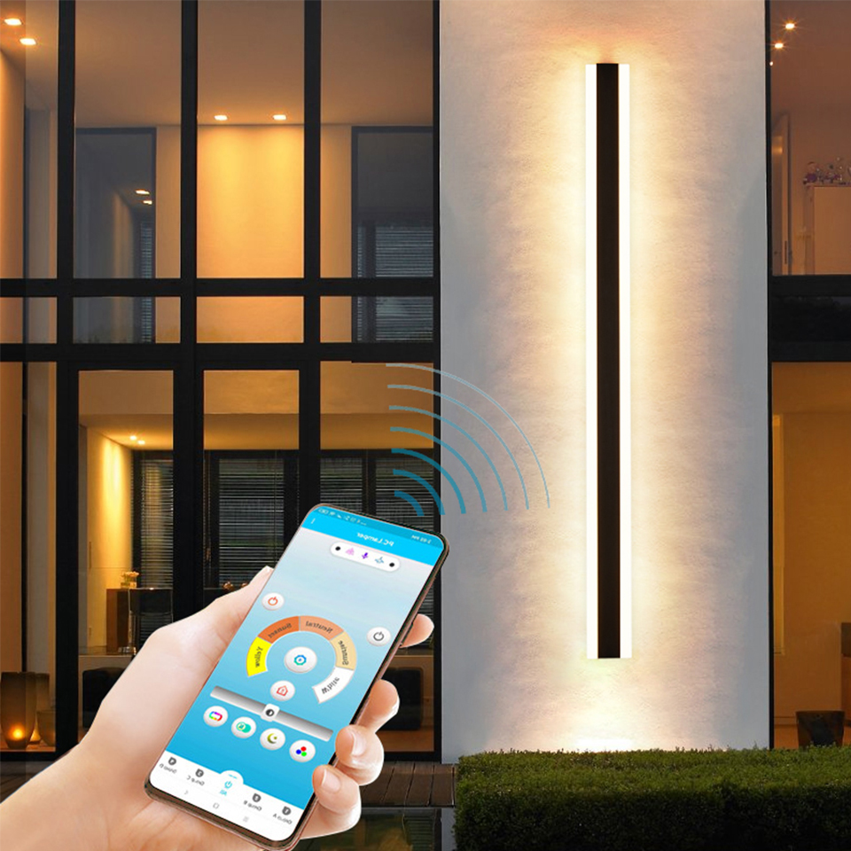 Outdoor Aluminum Waterproof Wall Mounted Lamp Modern IP65 LED Wall Lighting Garden porch Sconce Light 110V 220V Sconce Luminaire