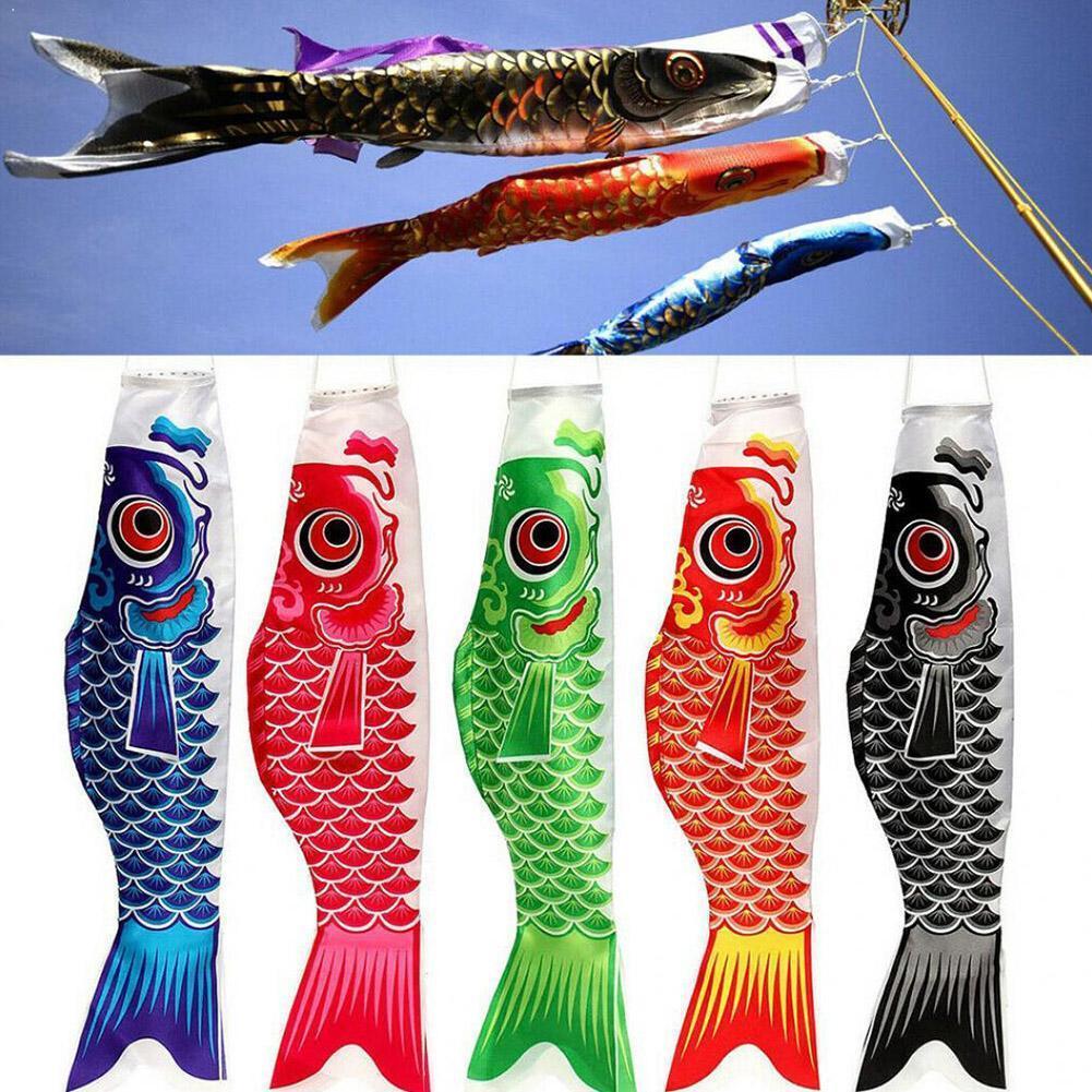 40/55/70/100 см японский Карп ветрового стекла стример рыбы Яркая обувь Ветроуказатель в форме рыбы кайт флаг мультфильм Карп подарочные носки ...