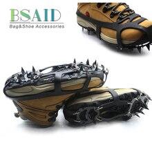 BSAID, 1 пара, Нескользящие скобы, ледяной захват, 18 зубов, зажимы с шипами для льда, снега, альпинизма, пеших прогулок, женские, мужские ботинки, бахилы
