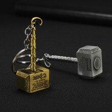 цены на TEH Thor Hammer Metal Keychains Avengers Endgame Superhero Spider Man Iron Man Key chain For Keys Men Car Women Bag Accessories  в интернет-магазинах