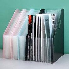 1PC 13 Layers Office file rack folding vertical folder organ file storage box basket desktop data file