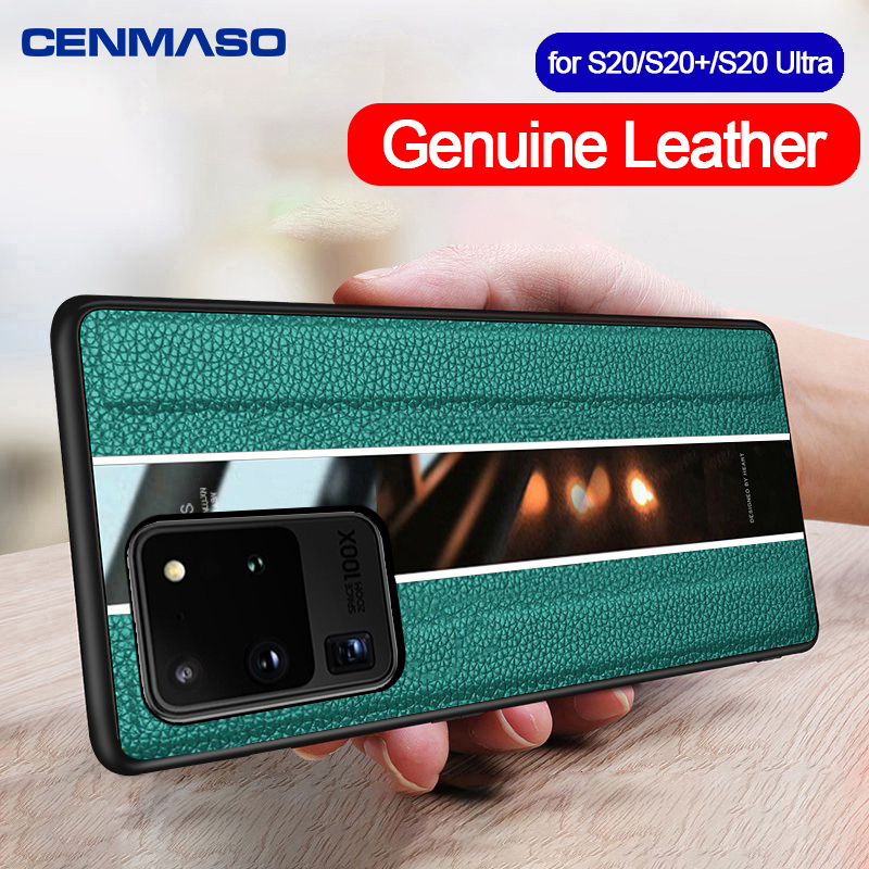 Original Genuine Leather for Samsung S20 Ultra Case for Samsung Galaxy S20 Plus A51 A50 Case Luxury Ultra Thin Protection Cover
