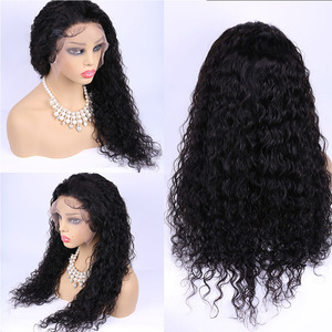 Image 4 - Water Wave Human Hair Wig 360 Lace Frontal Wig Pre Plucked with Baby Hair Maxine 150% Wet and Wavy 360 Lace Wigs for Women