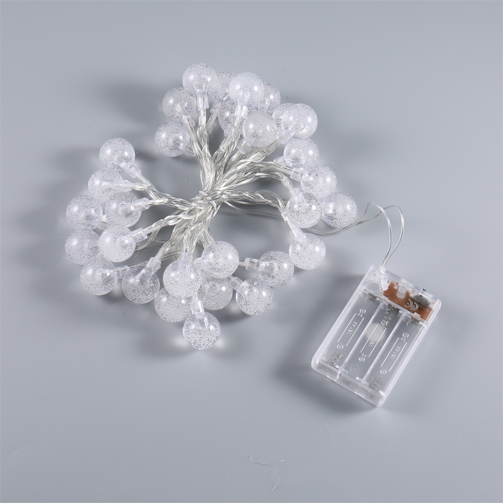 Snow Ball 3 LED Fairy String Light Xmas Party Battery Operated Day White