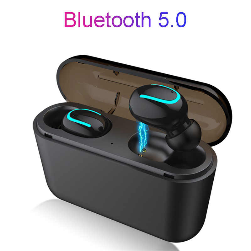 Bluetooth 5 0 Headset Tws Wireless Earphones Twins And Single Earbuds 5d Stereo Headphones Charging Case Work As Power Bank Aliexpress