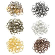 Anéis de pular, 500 pçs/lote 4 5 6 8 10 mm anéis de divisão conectores para fazer jóias acessórios suprimentos