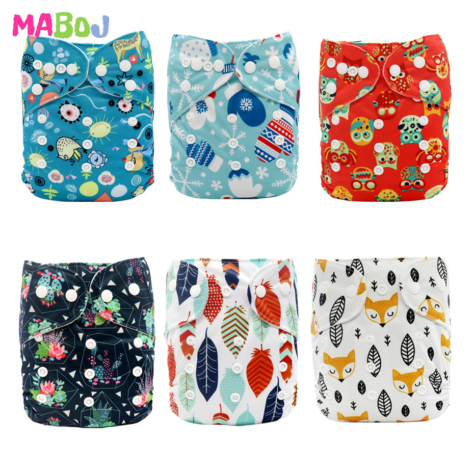 MABOJ Diapers Cloth Diapers Baby Born Pocket Nappy Washable Reusable Pul Eco Diaper Cover Insert Liner Unisex One Size Wholesale