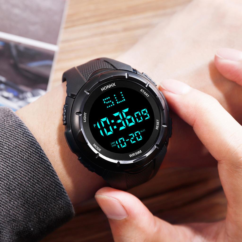 Man watch Reloj hombre HONHX Luxury Mens Digital LED Watch Date Sport Men Outdoor Electronic Watch Montre homme Zegarek męski@13