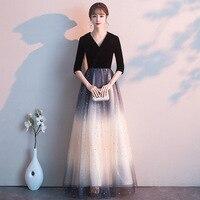 2020 Sale Halter Celebrity Dresses Evening Dress Evening Dress Women 2020 New Fairy Fantasy Chorus Party Star Sky Gradient Net
