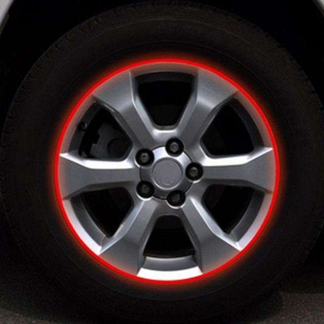 $ 1.07 16pcs 18 Inches Car Reflective Tape Decoration Stickers Reflector Tape Bike Motorcycle Film Auto^^