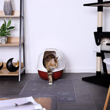 1pc Square Pad Portable Litter Mat PVC Easy Clean Pets Home Thicken Dog Non Slip Paws Printed Soft Cat High Quality