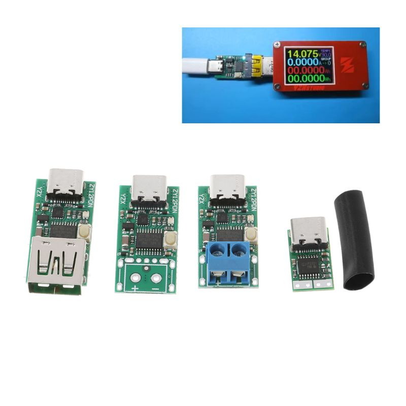 Type-C USB Fast Charging Decoy Detector Trigger Poll Mudule PD 5A 9V/12V/15V/20V Automatic Test