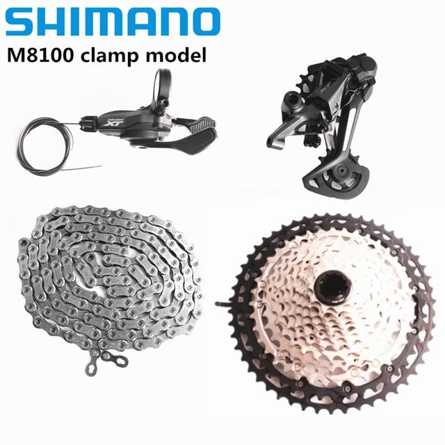 SHIMANO DEORE XT M8100 12S Groupset MTB Mountainจักรยาน 1x12 Speed 51T SL + RD + CS + HG m8100 Shifter Derailleur Chain Cassette