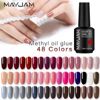 15ml MAYJAM Poly Gel Nail Polish Nude Design Nail Primer Gel Varnish Soak Off UV Semi Permanent Gel Polish Base Coat Nails Art недорого